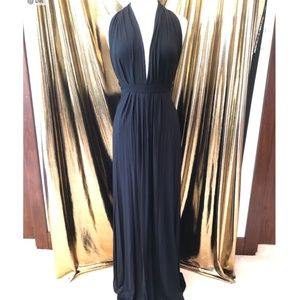 Tart Maxi Halter Dress Black Sz M